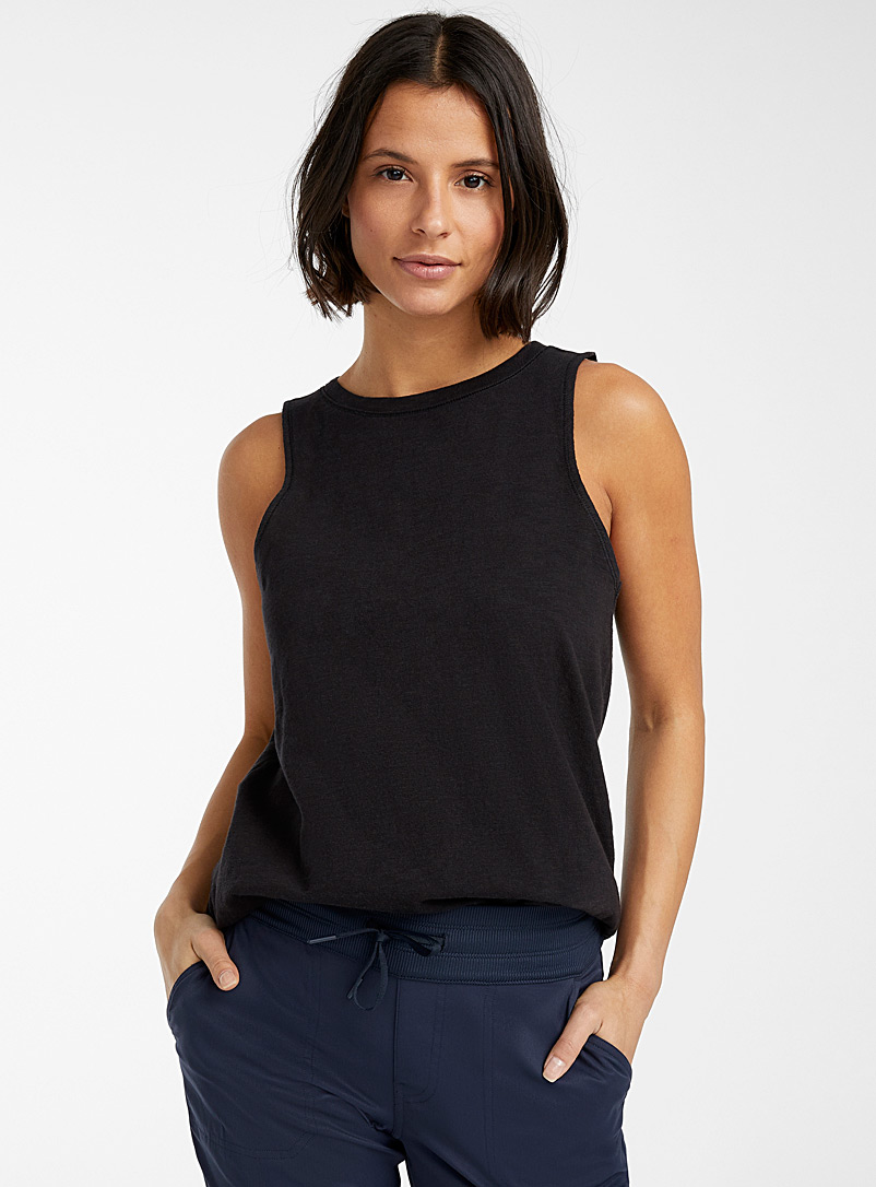 The North Face Black Emerine cotton jersey cami for women