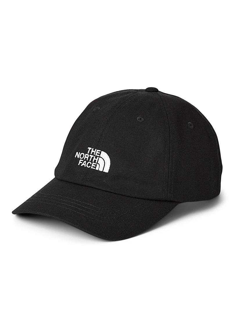The North Face Black Cotton signature cap for women