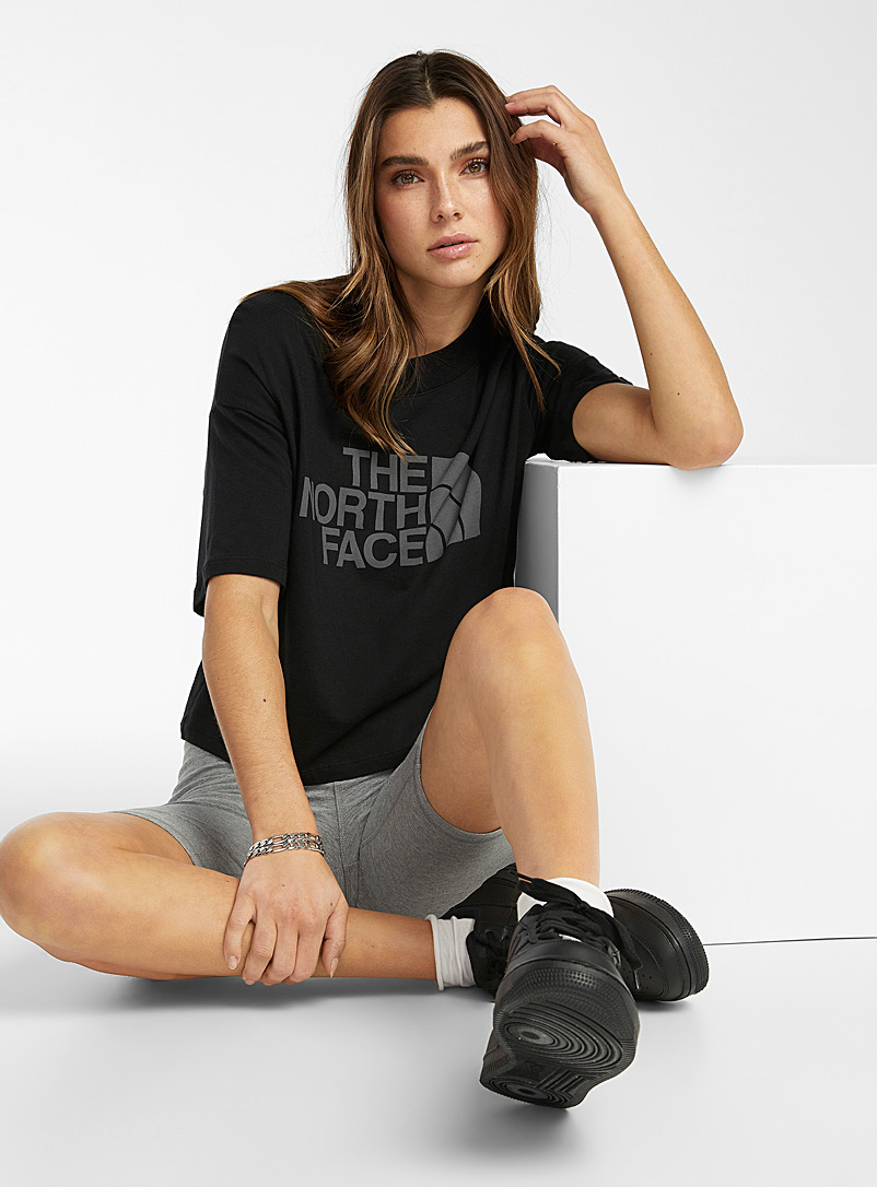 The North Face: Le t-shirt logo Half Dome Noir pour femme