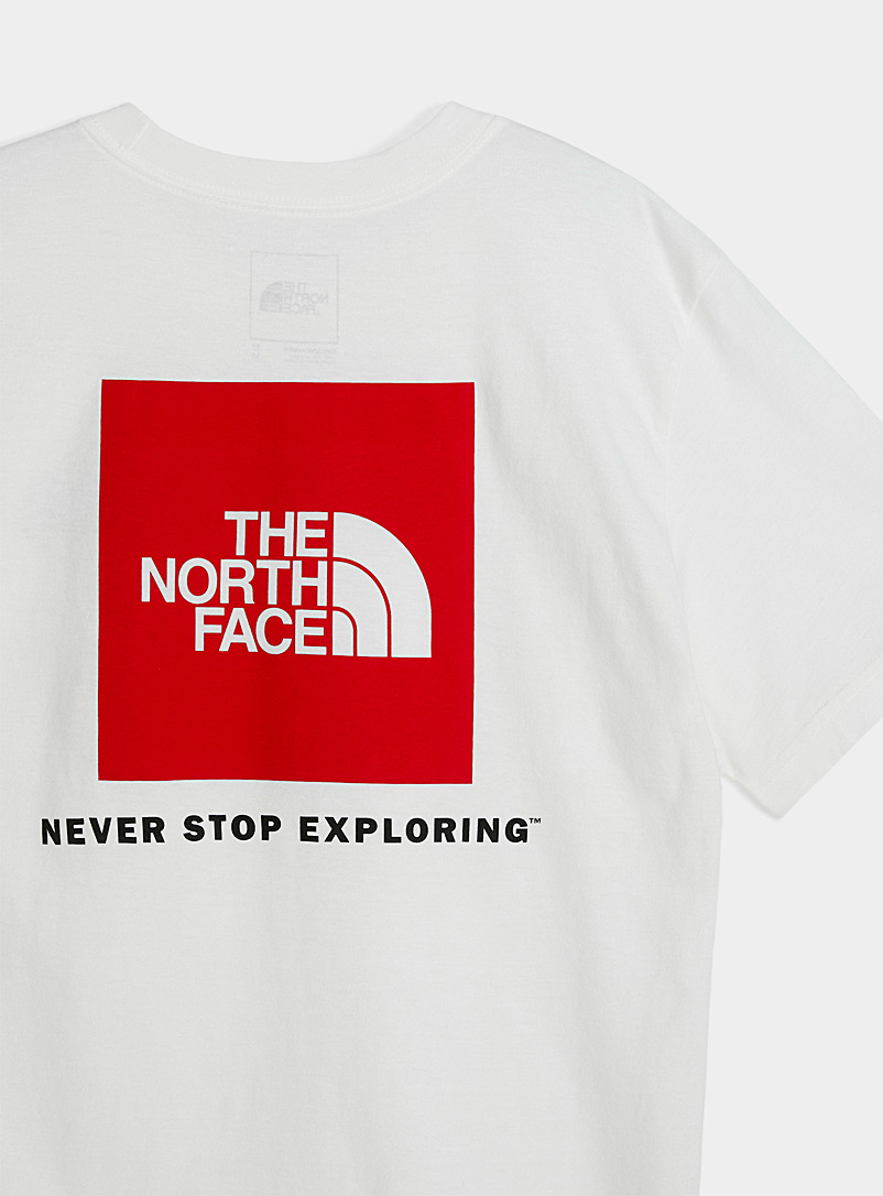 The North Face: Le t-shirt Red Box Blanc pour homme