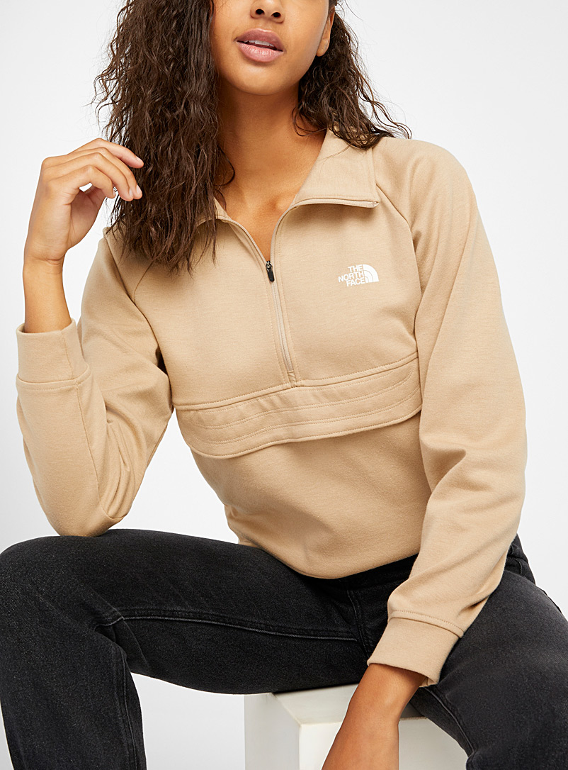 Accent pocket half-zip anorak sweatshirt