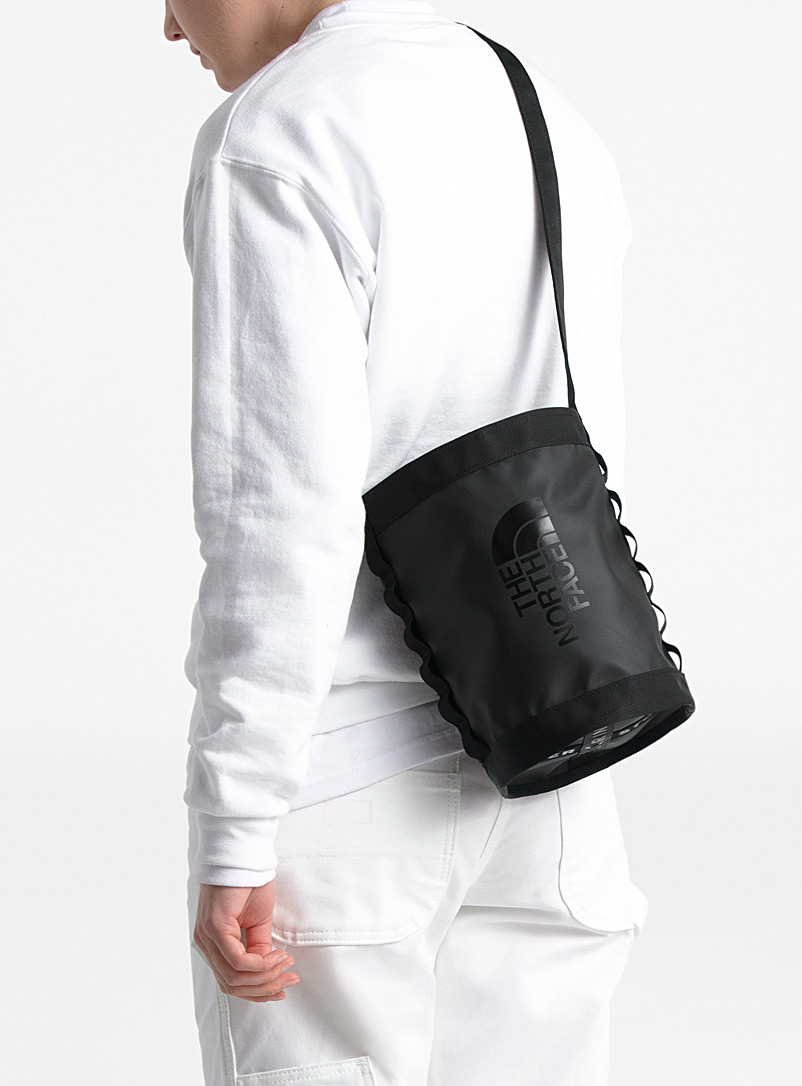 The North Face Black Explore bucket bag for men
