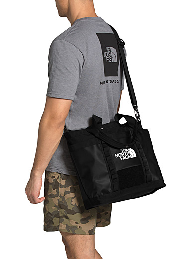 The North Face Black Explore utility tote for men