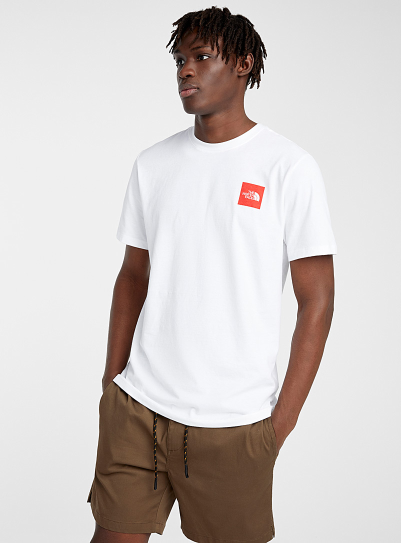 The North Face White Square-logo T-shirt for men