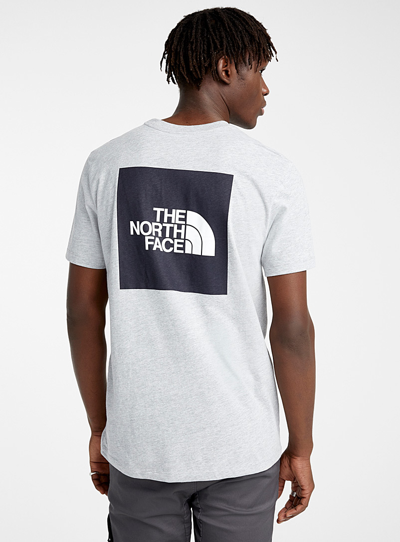 The North Face: Le t-shirt logo carré Gris pour homme