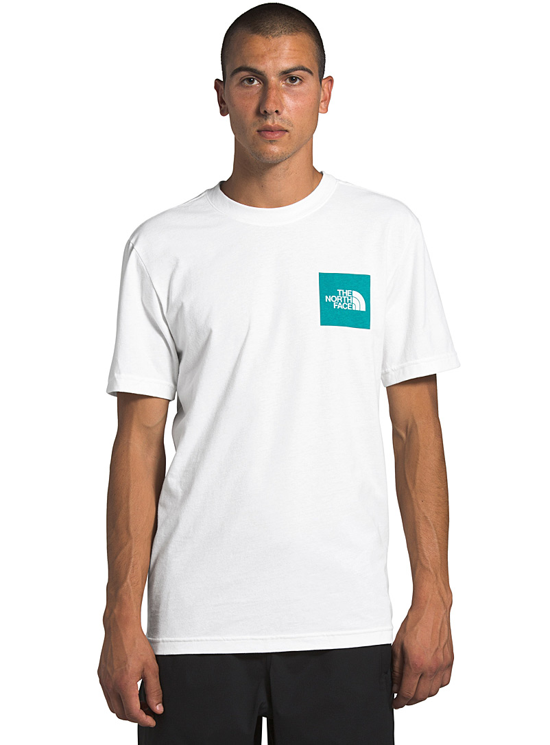 The North Face White Box logo T-shirt for men