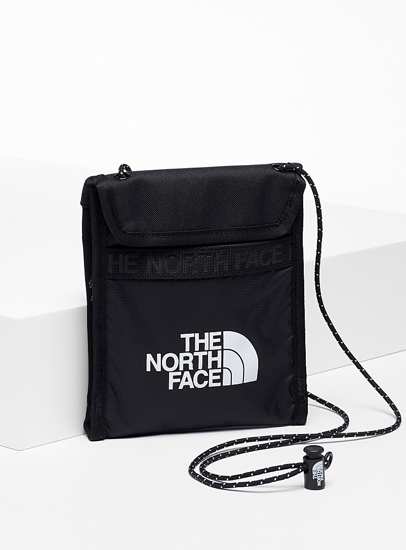 The North Face Black Bozer large shoulder clutch for men