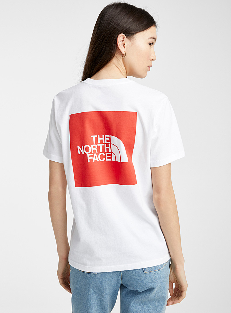 The North Face White Red Box short-sleeve tee for women