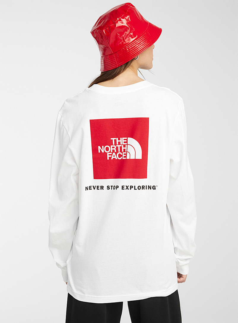 The North Face White Box long-sleeve tee for women
