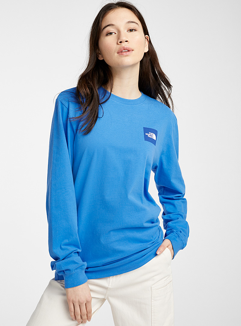 The North Face Blue Box long-sleeve tee for women