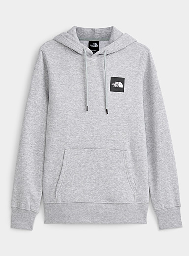 The North Face Light Grey Red Box hoodie for women