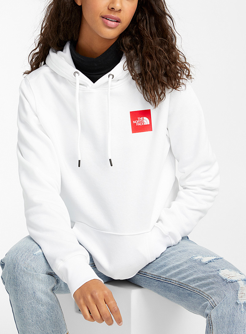 The North Face: Le kangourou bloc logo Blanc pour femme