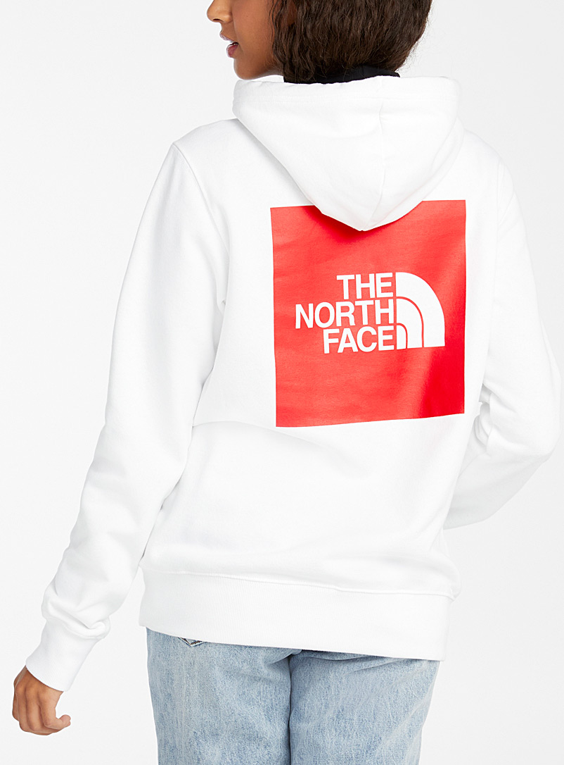 The North Face White Logo block hoodie for women