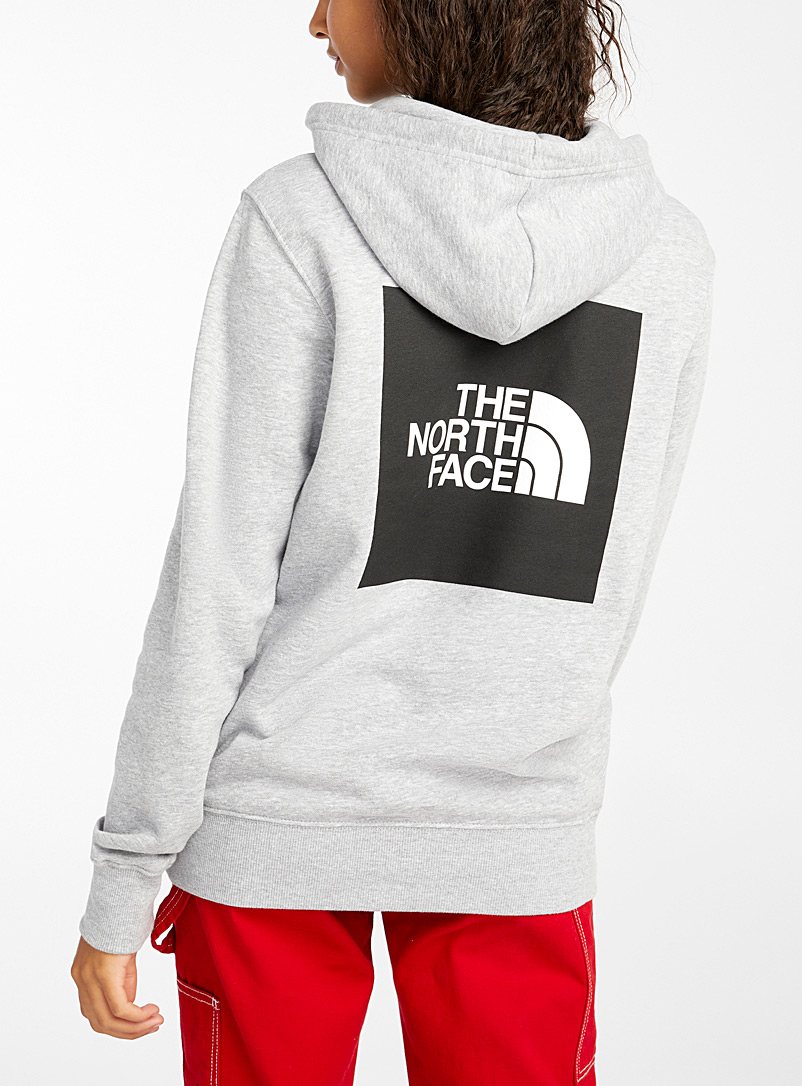 The North Face Grey Logo block hoodie for women