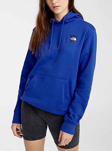 The North Face Blue Logo block hoodie for women