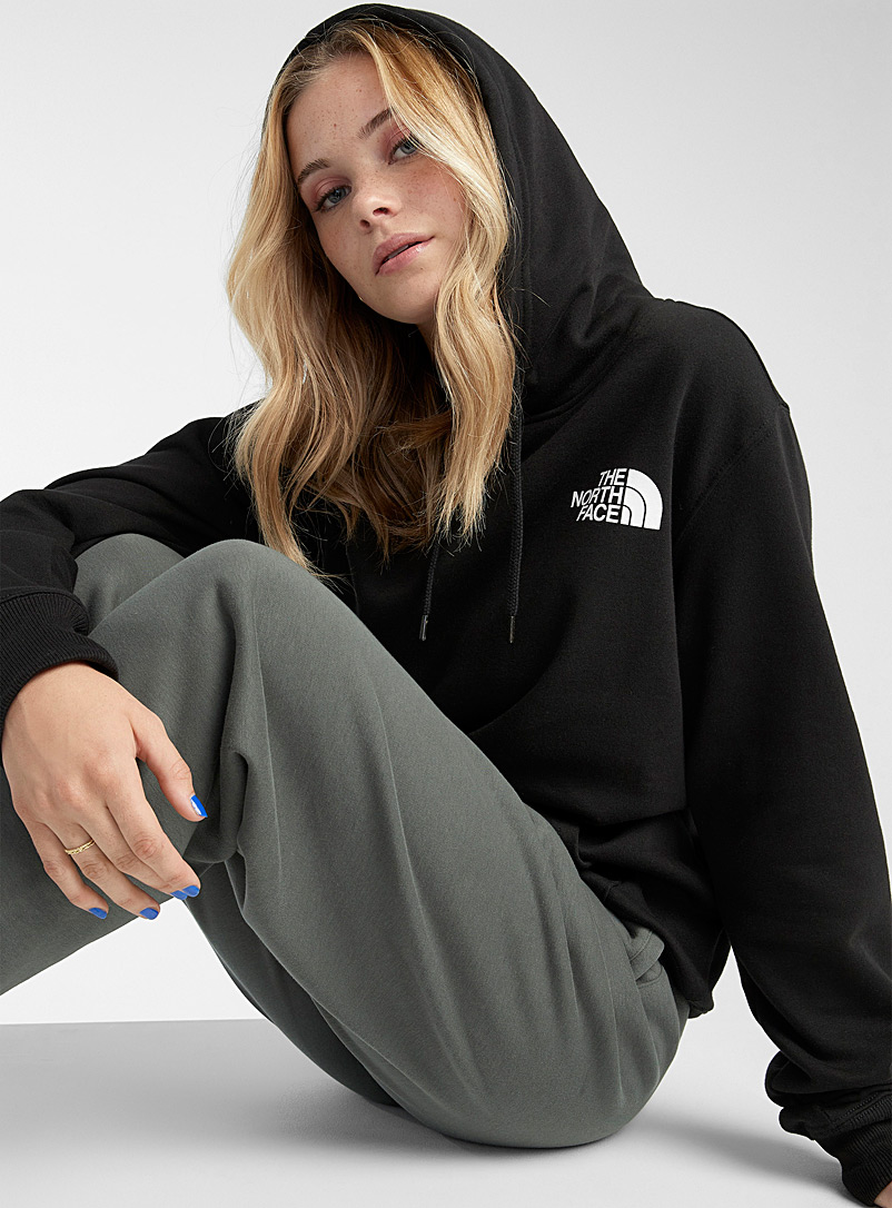 The North Face Black Signature back loose hoodie for women