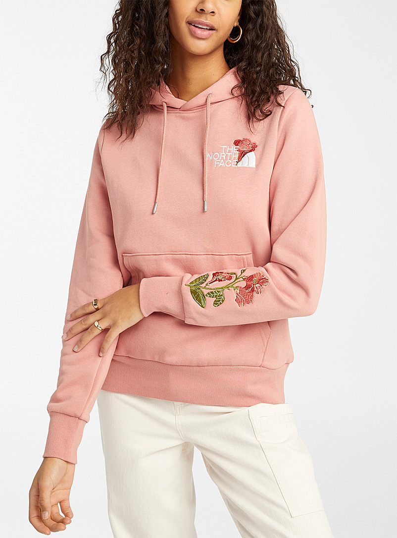 The North Face Pink Red Box floral hoodie for women