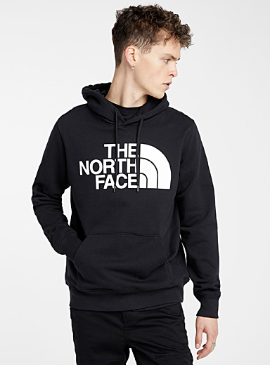 The North Face Black Macro logo hoodie for men
