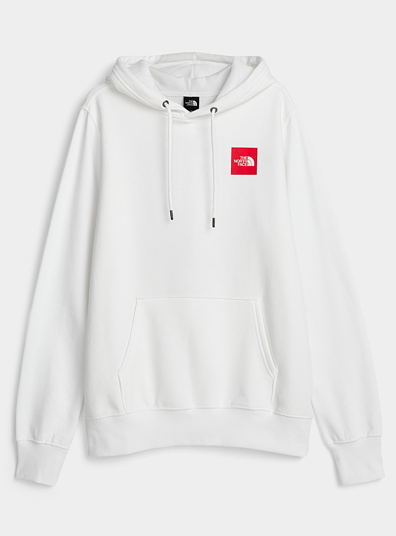 The North Face White Square logo hoodie for men