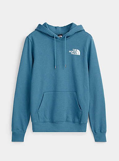 The North Face Slate Blue Square logo hoodie for men
