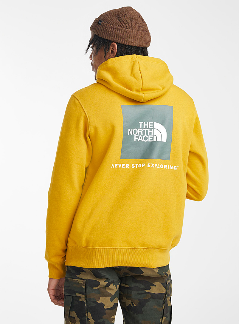 The North Face Medium Yellow Square logo hoodie for men