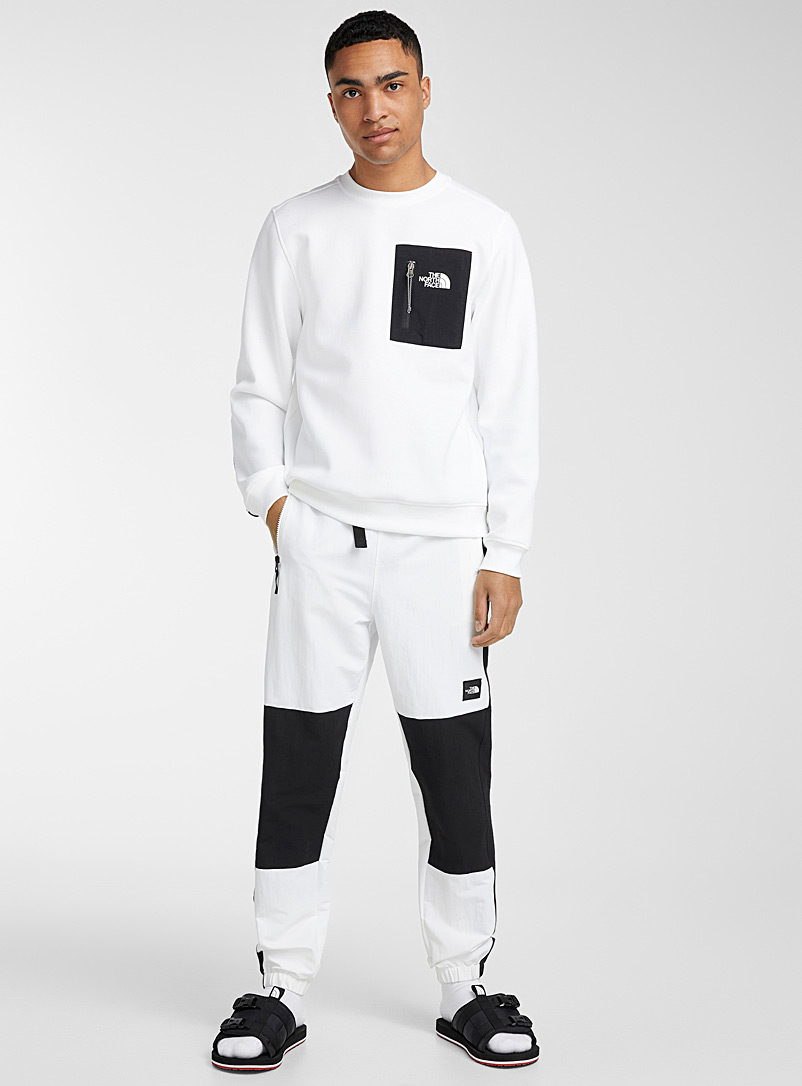 The North Face: Le sweat bimatière Black Box Blanc pour homme
