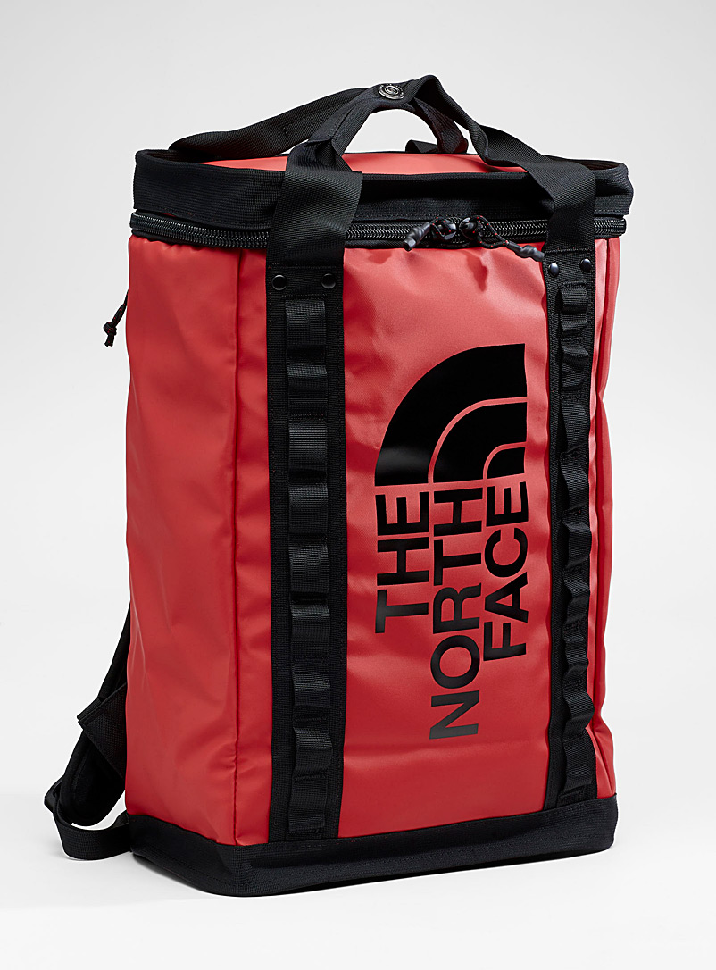 The North Face Red Explore Fusebox backpack for men