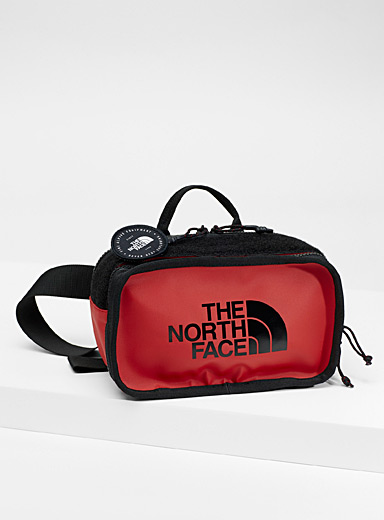 The North Face Red Explore belt bag for men