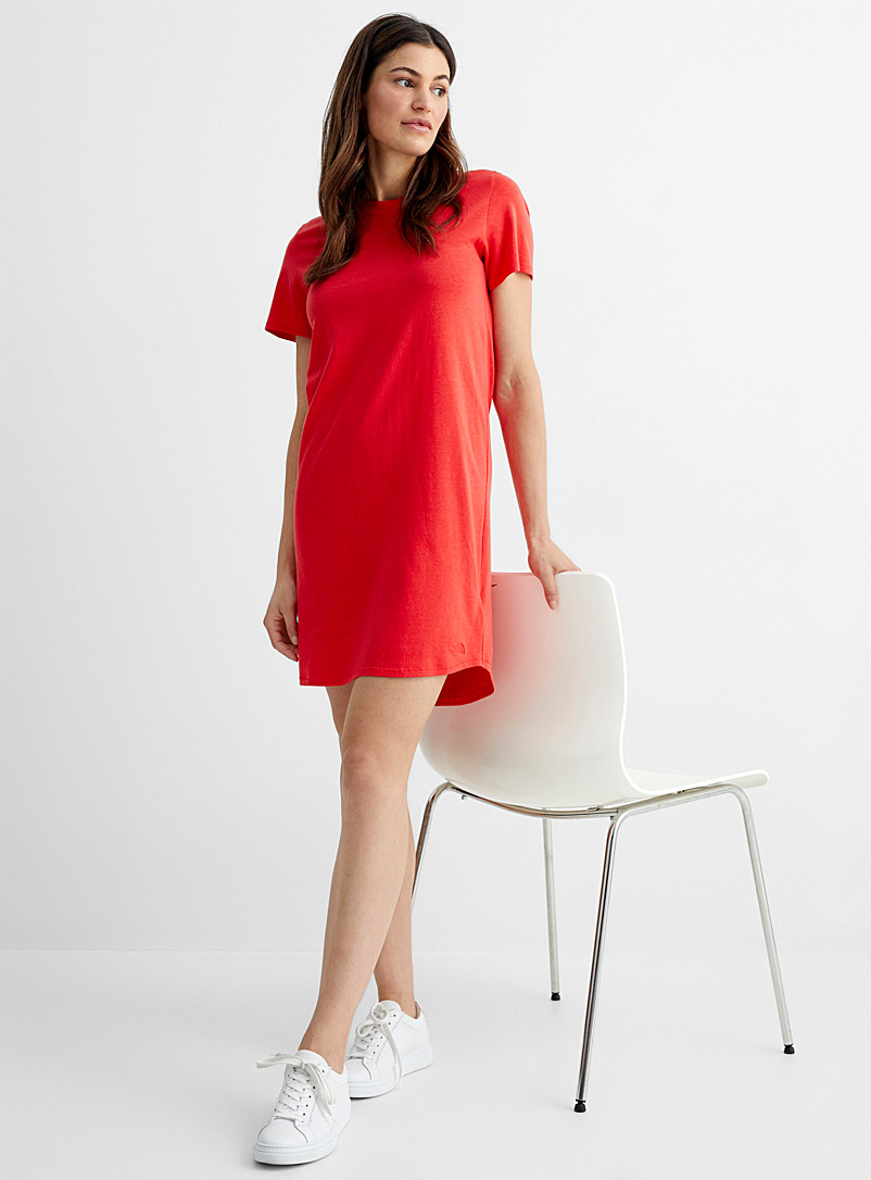 The North Face Red Best Tee Ever T-shirt dress for women