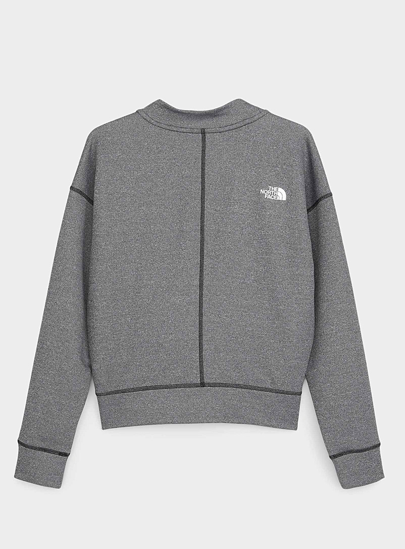 The North Face Grey Basin funnel-neck sweatshirt for women