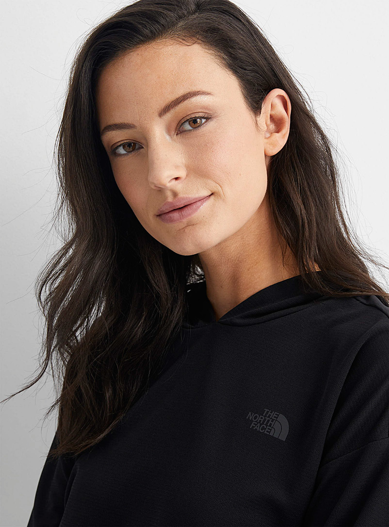 The North Face Black Wander light hooded top for women