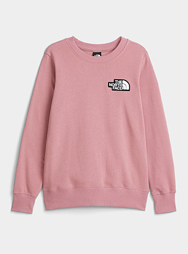 The North Face Pink Terry logo sweatshirt for women