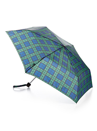 Simons Patterned Blue Incognito umbrella for women