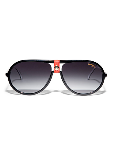 Red accent aviator sunglasses