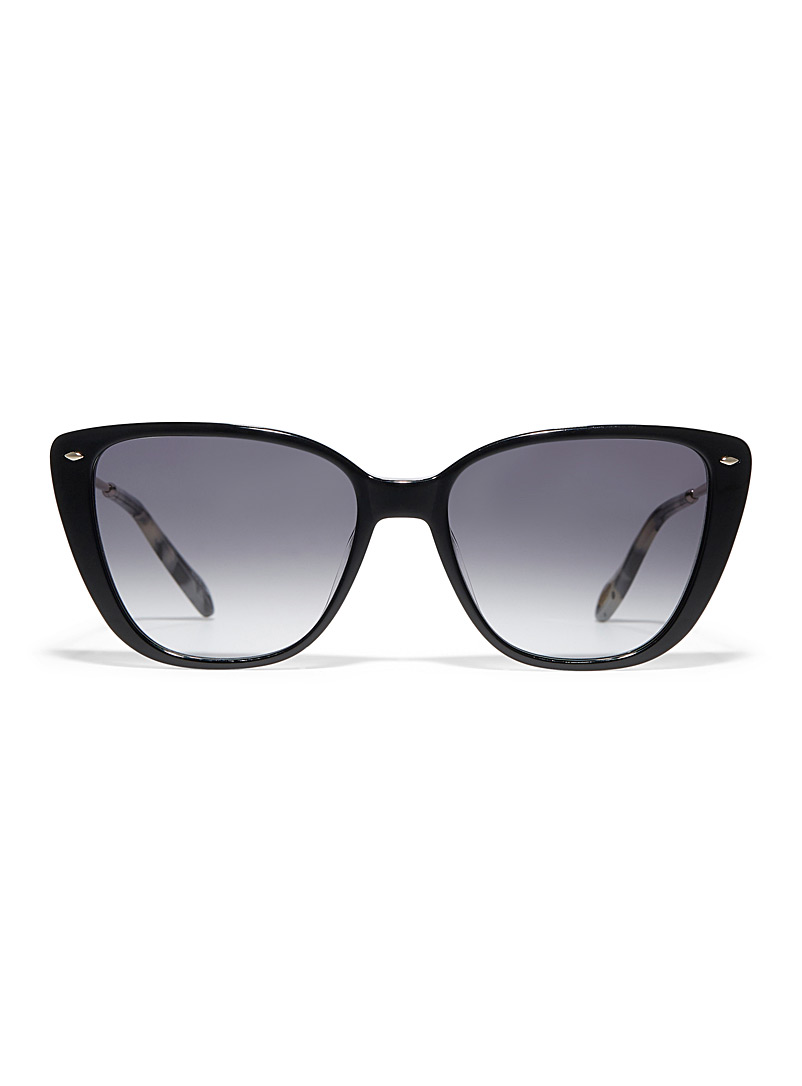 Patterned-temple cat-eye sunglasses