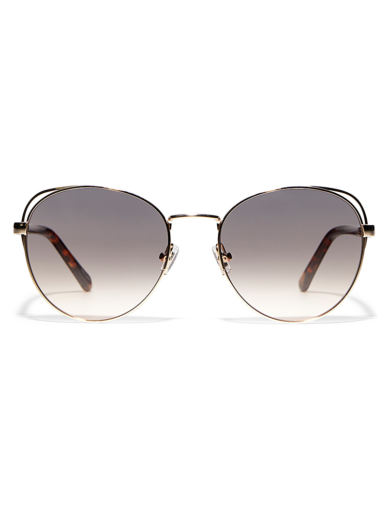 Fossil Assorted Round tortoiseshell and gold sunglasses for women