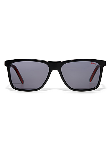 Two-tone rectangular sunglasses