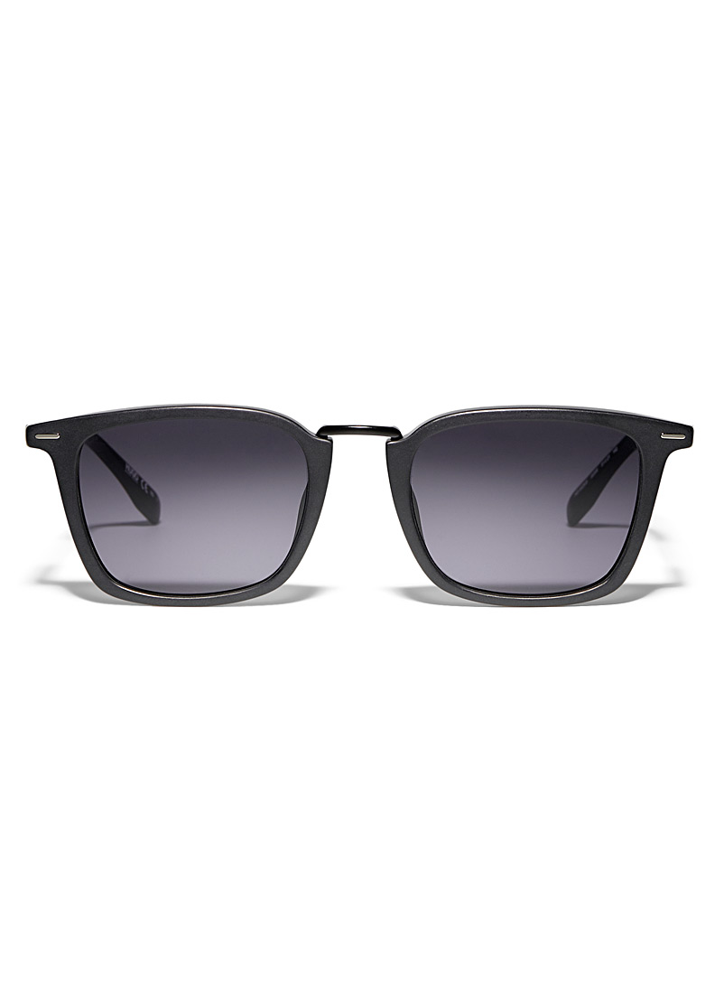 HUGO Black Modern matte sunglasses for men