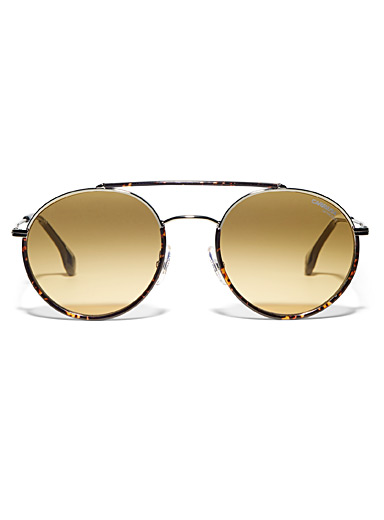 Double-bridge aviator sunglasses