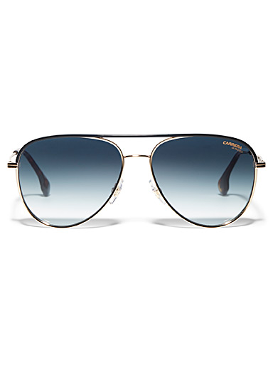 Graded-lens aviator sunglasses