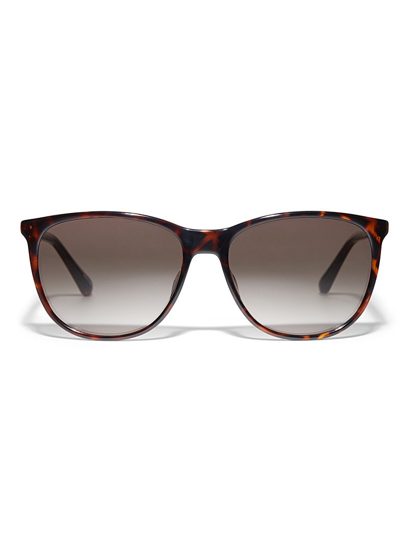 Fossil Black Lindenwood rectangular sunglasses for women