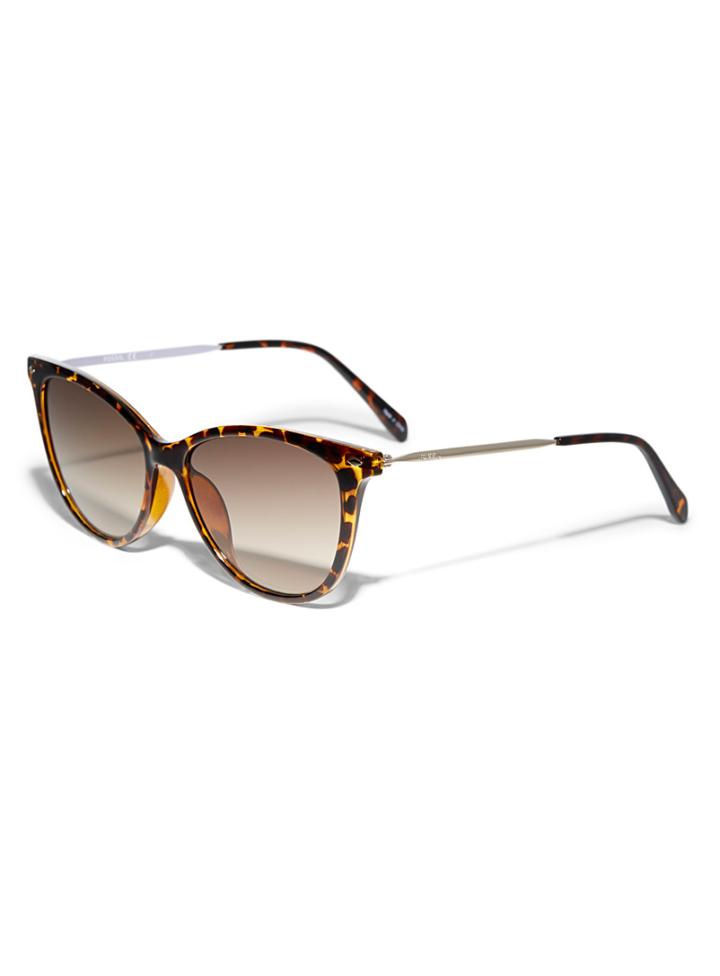 Fossil Black Mockingbird cat-eye sunglasses for women