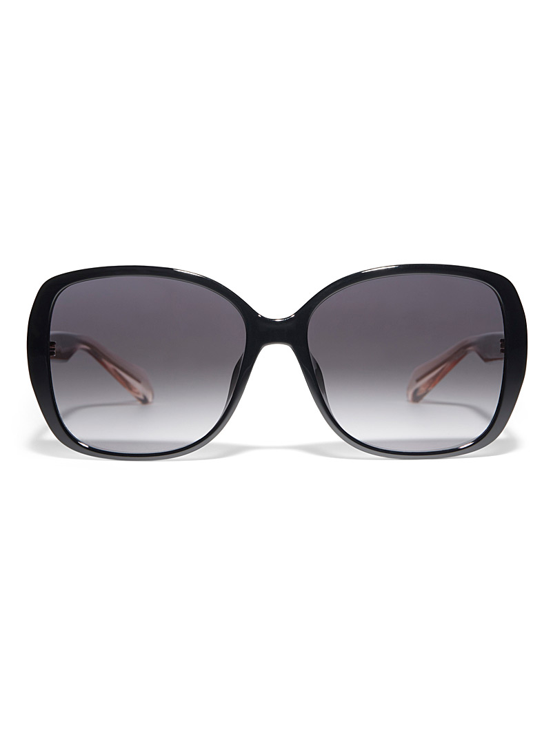 Fossil Black Retro square sunglasses for women
