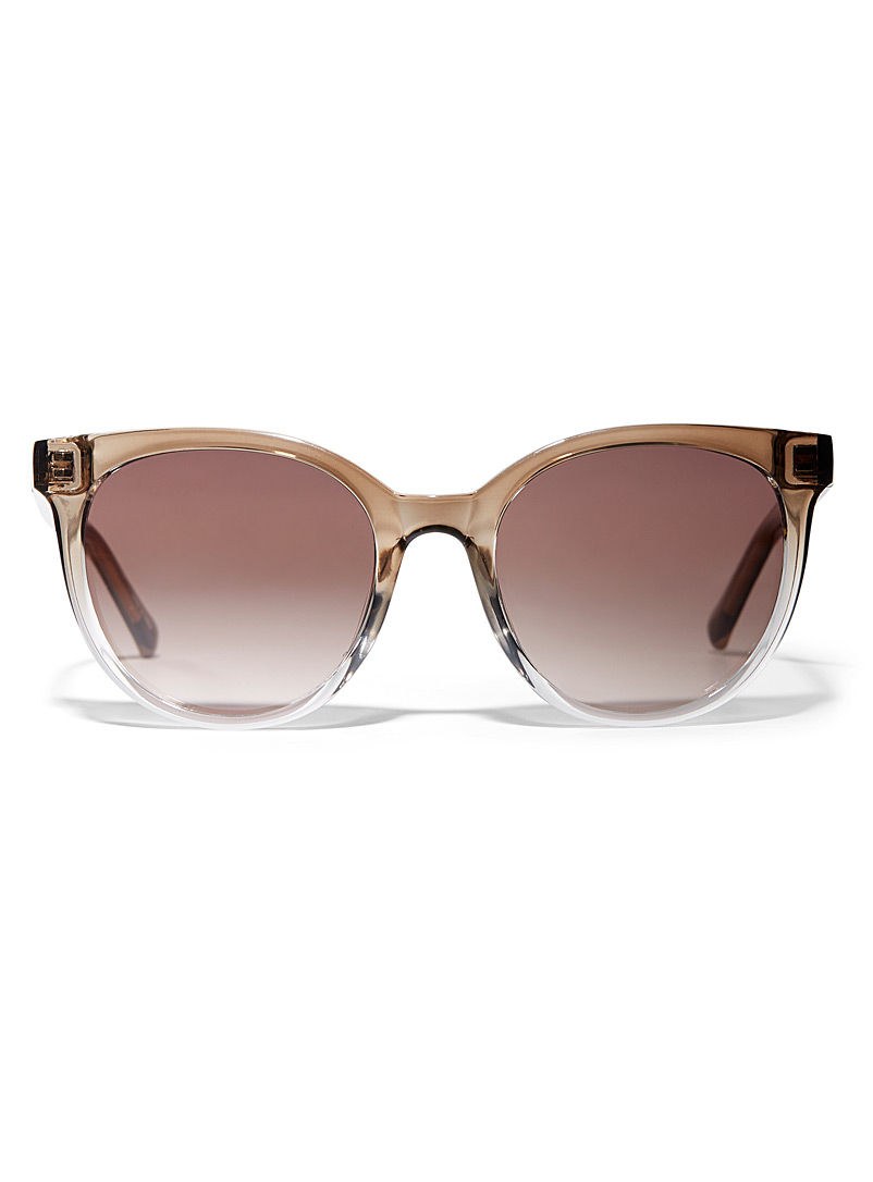 Fossil Brown Tilly round sunglasses for women
