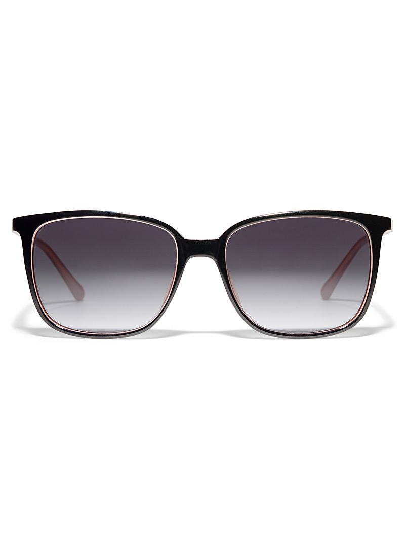 Fossil Black Kelsey rectangular sunglasses for women