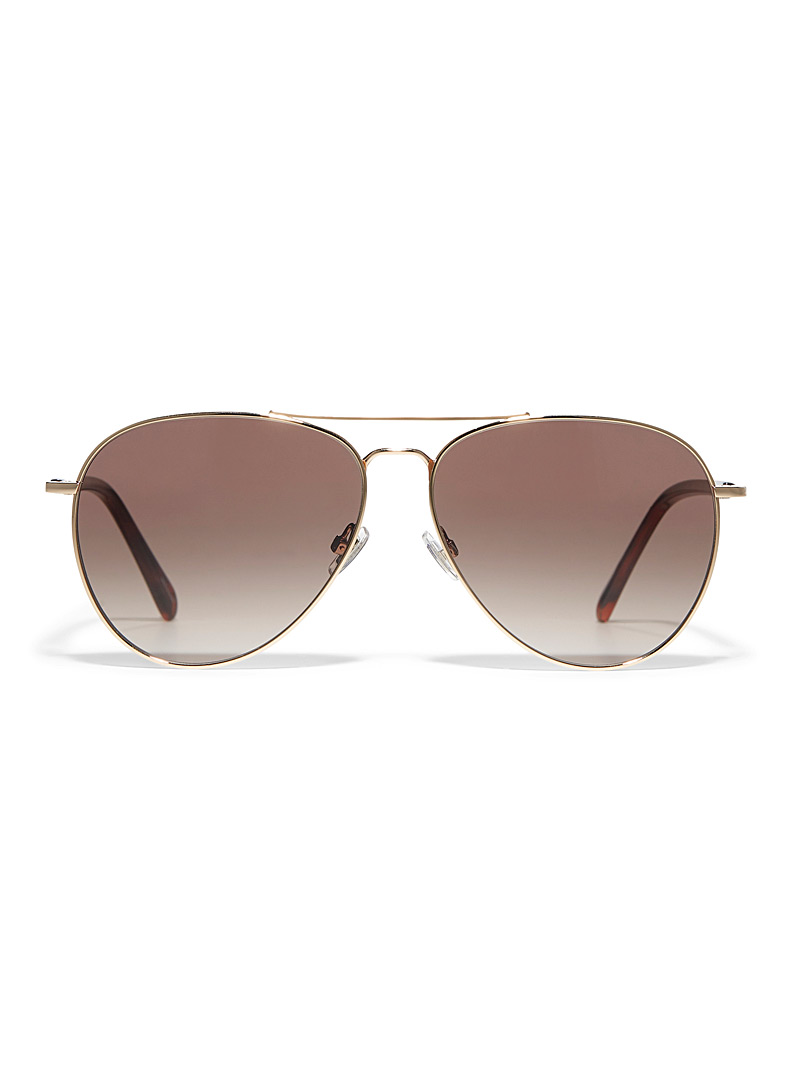 Fossil Assorted Openwork bridge aviator sunglasses for women