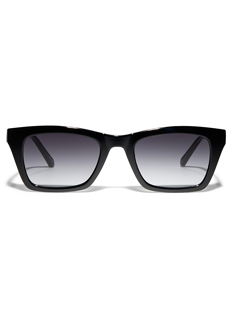 Fossil Black Bold rectangular sunglasses for women