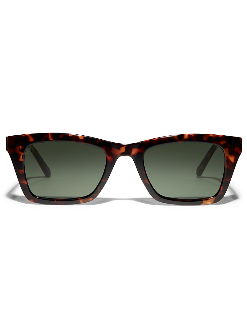 Bold rectangular sunglasses