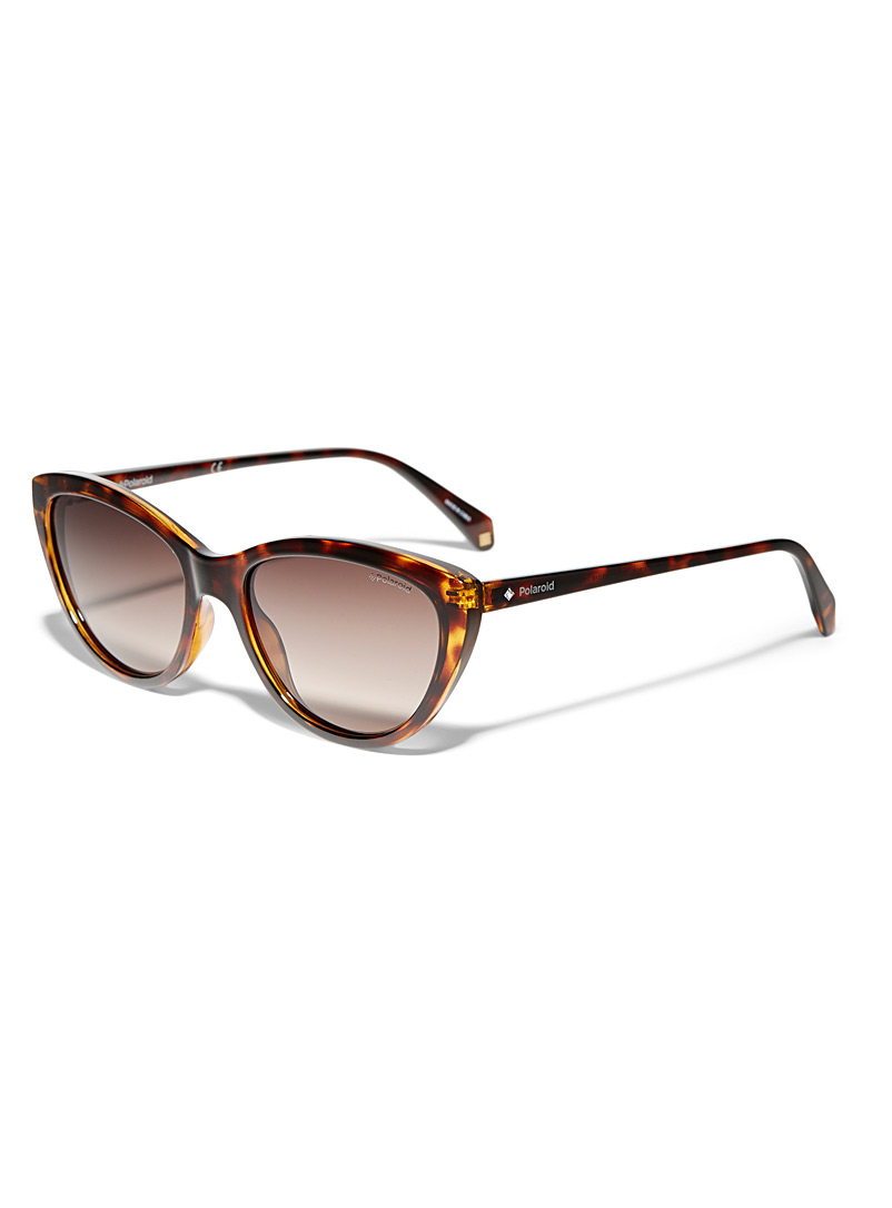 Polaroid Assorted brown  Crystal cat-eye sunglasses for women