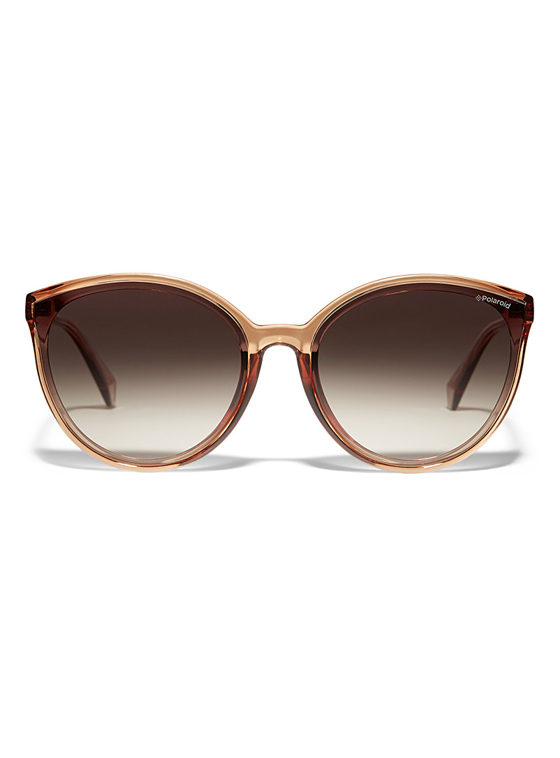 Polaroid Brown Oversized round sunglasses for women